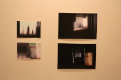 "Clockwise from top left: ""Blemish #1"" (2011), ""Mimed Blemish #1"" (2011), ""Mimed Blemish #5"" (2011), ""Blemish #5"" (2011)"